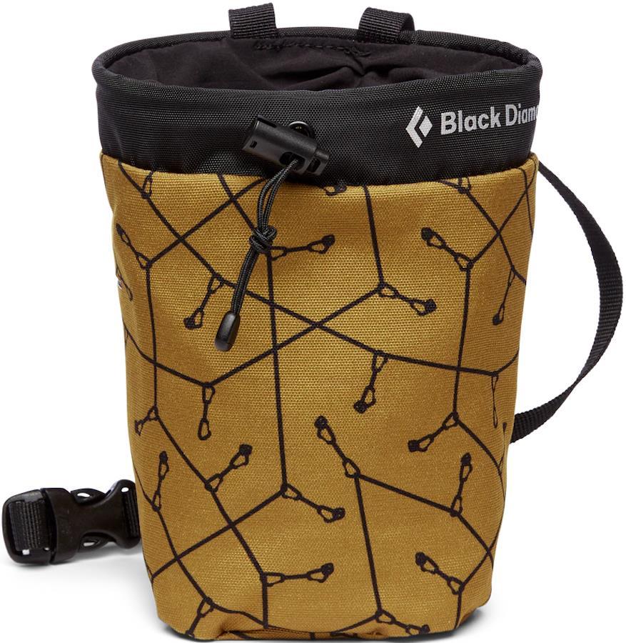 Black Diamond Gym Rock Climbing Chalk Bag, M/L Sport Print