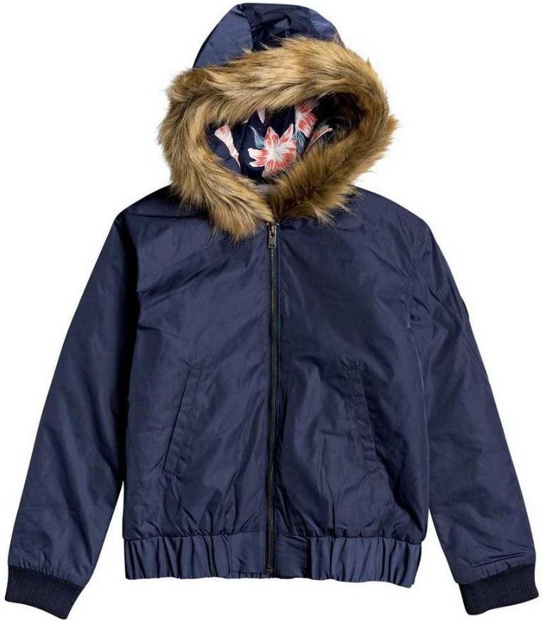 Roxy Rain Dancing Girl's Ski/Snowboard Jacket, Ages 8-10 Mood Indigo