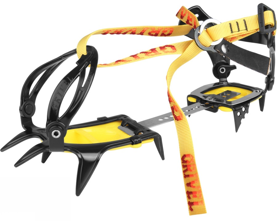 Grivel G10 New Classic Mountaineering Crampon UK 2-12 Yellow, Wide