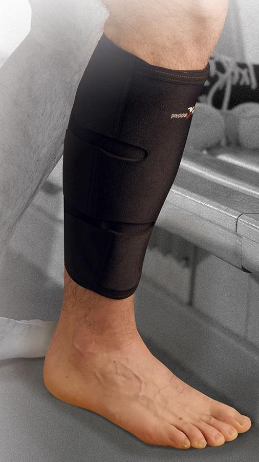 Precision Neoprene Calf/Shin Wrap L/XL Black