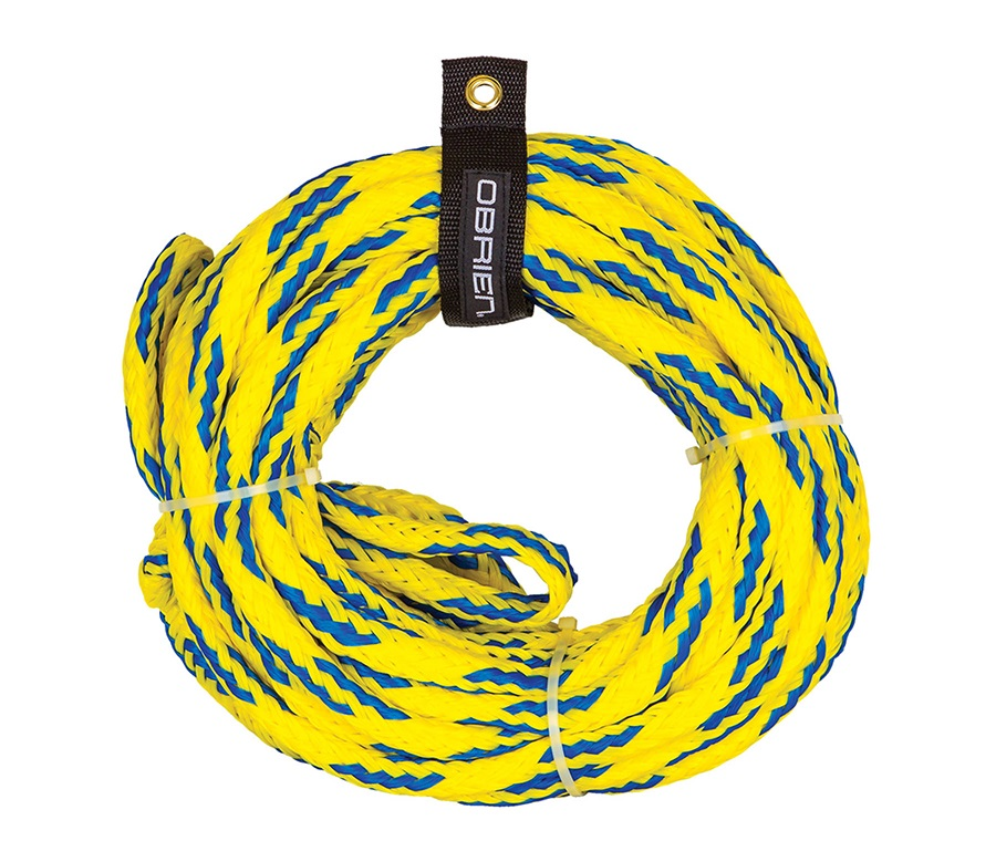 O'Brien Floating Towable Tube Rope, For 2 Rider Tubes Yellow Blue 2021