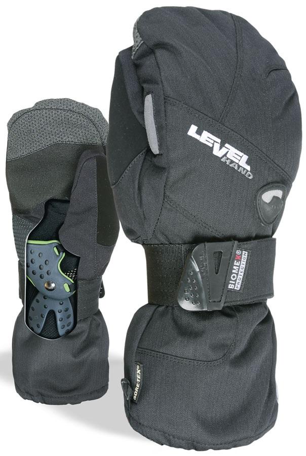 Level Half Pipe XCR Gore-Tex Snowboard/Ski Mitts, M Black