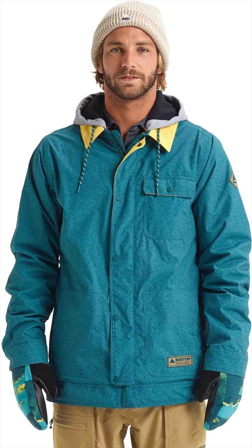 Burton Dunmore Snowboard/Ski Jacket, XL Deep Teal Acid Wash