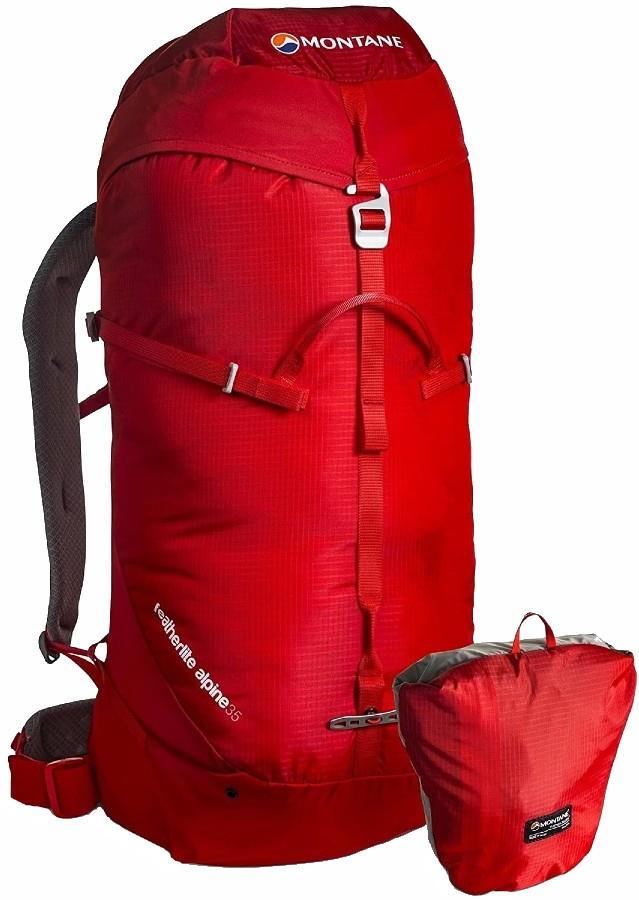 Montane Featherlite Alpine Mountain Climbing Backpack 35L Flag Red