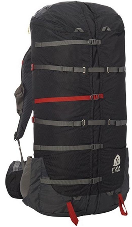 Sierra Designs Flex Capacitor 60-75L Trekking Backpack, S/M Peat