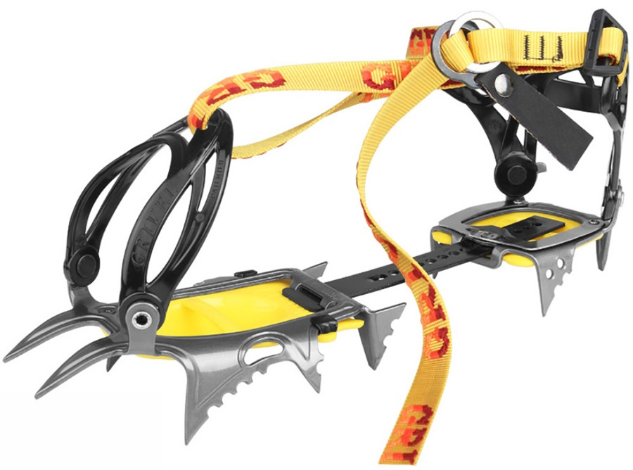 Grivel Air Tech New Classic Mountaineering Crampon UK 2.5-12.5 Yellow