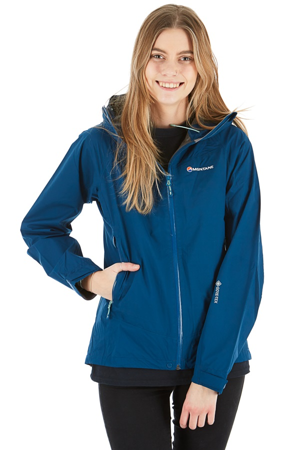 Montane Pac Plus Gore-Tex Women's Shell Jacket, UK 14 Narwhal Blue