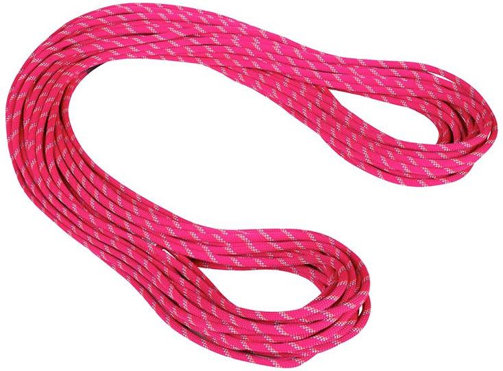 Mammut 8mm Alpine Dry Rope Rock Climbing Rope, 70m X 8mm Pink-Zen
