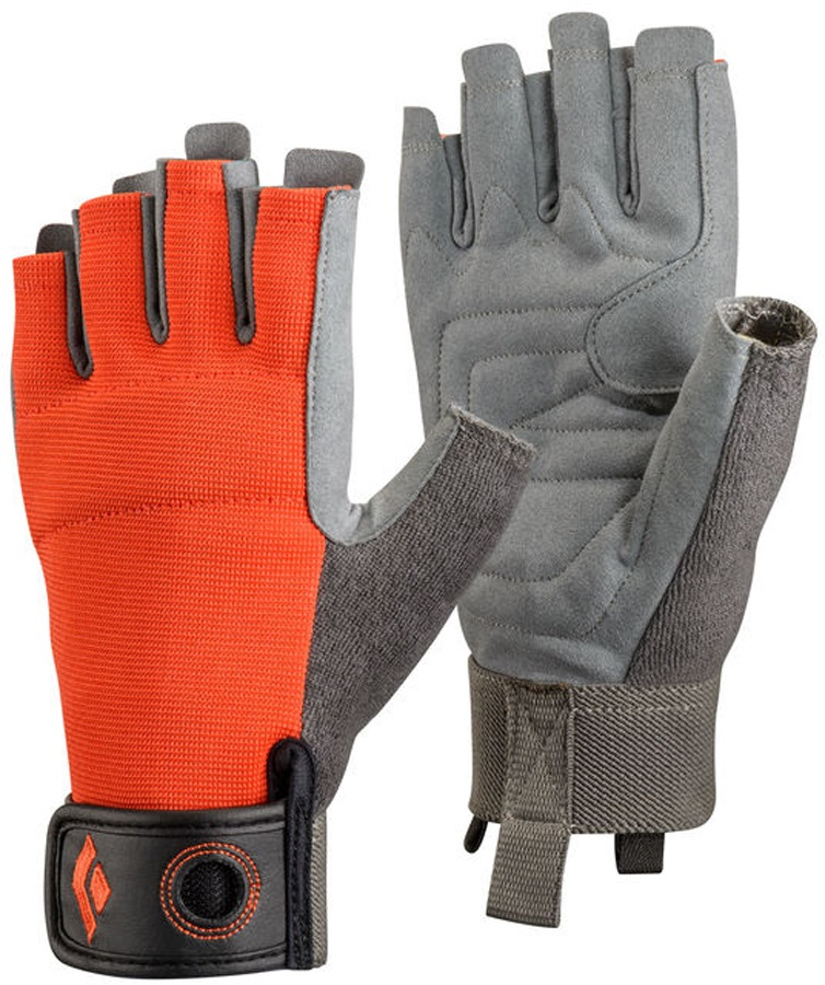 Black Diamond Crag Half-Finger Rock Climbing Gloves, XL Octane