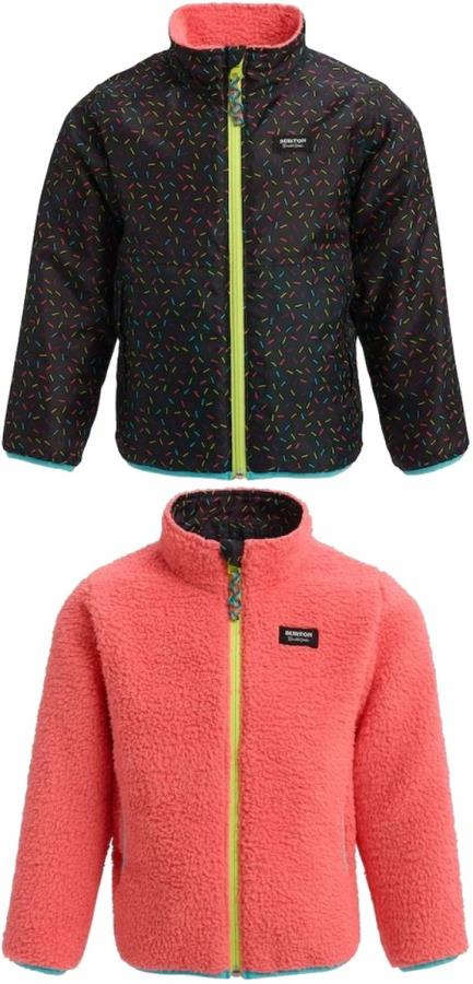 Burton Boys Snooktwo Reversible Fleece Jacket, 4t Sprinkles/Georgia