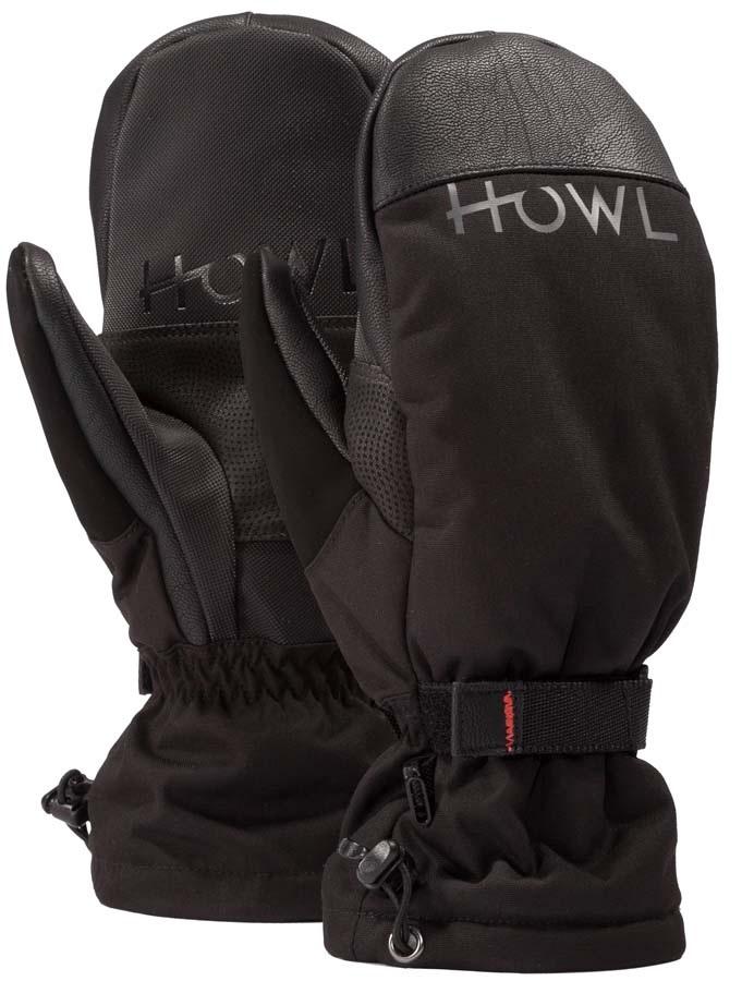 Howl Network Mitt Ski / Snowboard Mitts, L Black