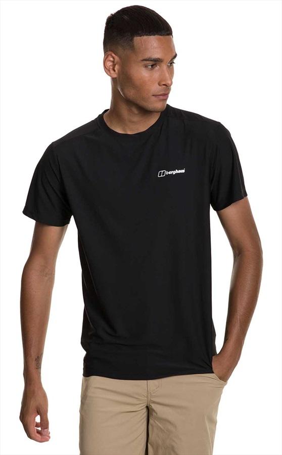 Berghaus 24/7 Tech Short Sleeve Baselayer Crew T-Shirt, S Black/Black