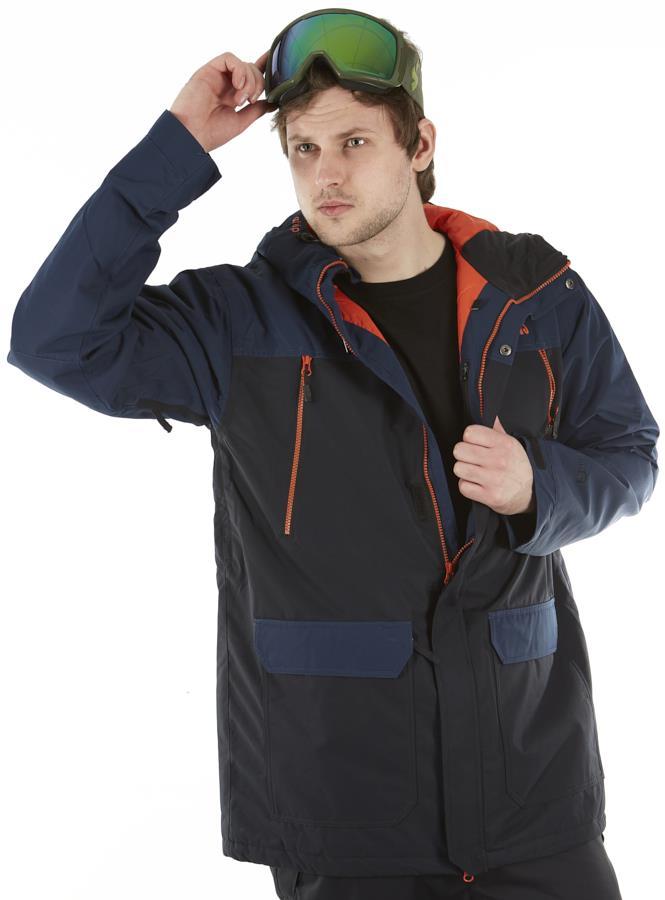 Horsefeathers Thorn Atrip Ski/Snowboard Jacket, M Eclipse