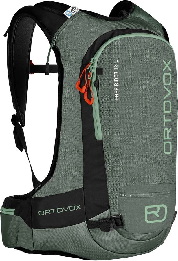 Ortovox Free Rider Ski/Snowboard Backpack, 18L Green Forest