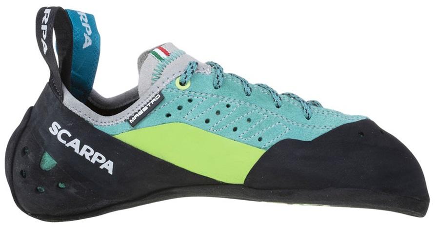 Scarpa Womens Maestro Women's Rock Climbing Shoe, Uk 4   Eu 36 Green/Blue