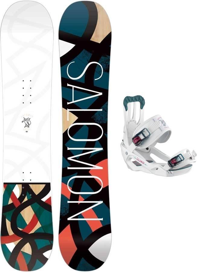 Salomon Lotus | Spell Snowboard Package, 135cm | Medium 2020