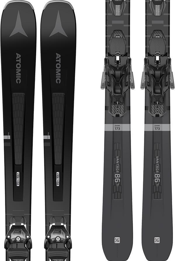 Atomic Vantage 86 Ti Ex Display Skis, 181cm + WAR MNC 13 Black/silver