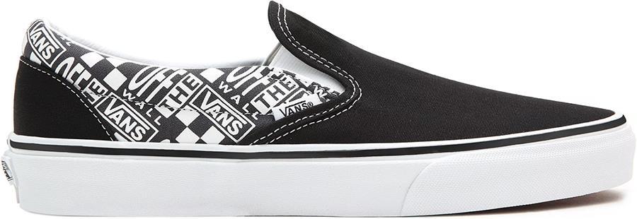 Vans Classic Slip-On Skate Shoes, UK 8.5 Off The Wall Black/Asphalt