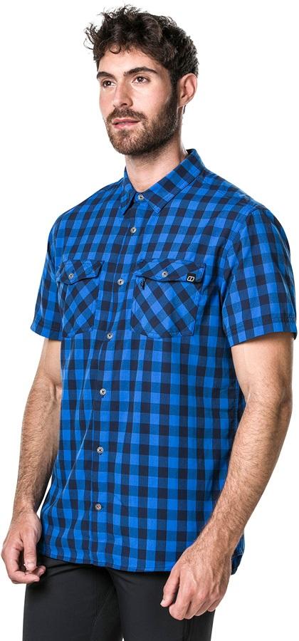 Berghaus Explorer 2.0 Short Sleeve Shirt, S Snorkel Blue Small Check
