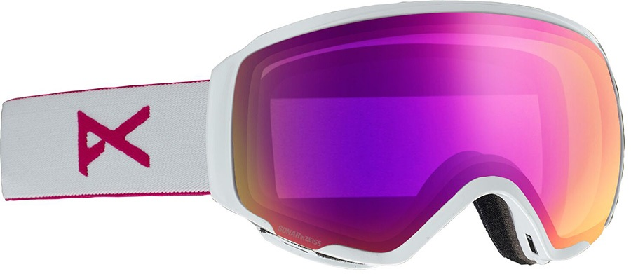 Anon WM1 Sonar Pink Women's Ski/Snowboard Goggles, S/M Pearl White