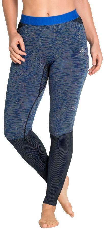 Odlo Blackcomb Base Layer Women's Long Pant, L Blue Tattoo