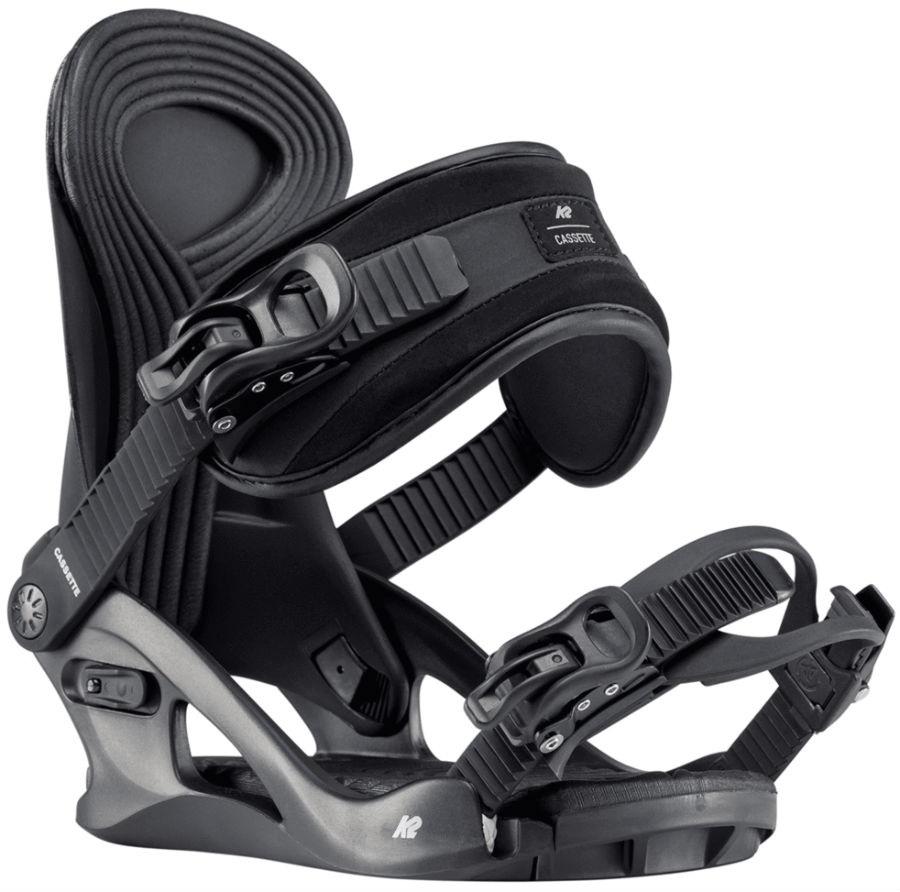 K2 Cassette Women's Snowboard Bindings, S Black 2020