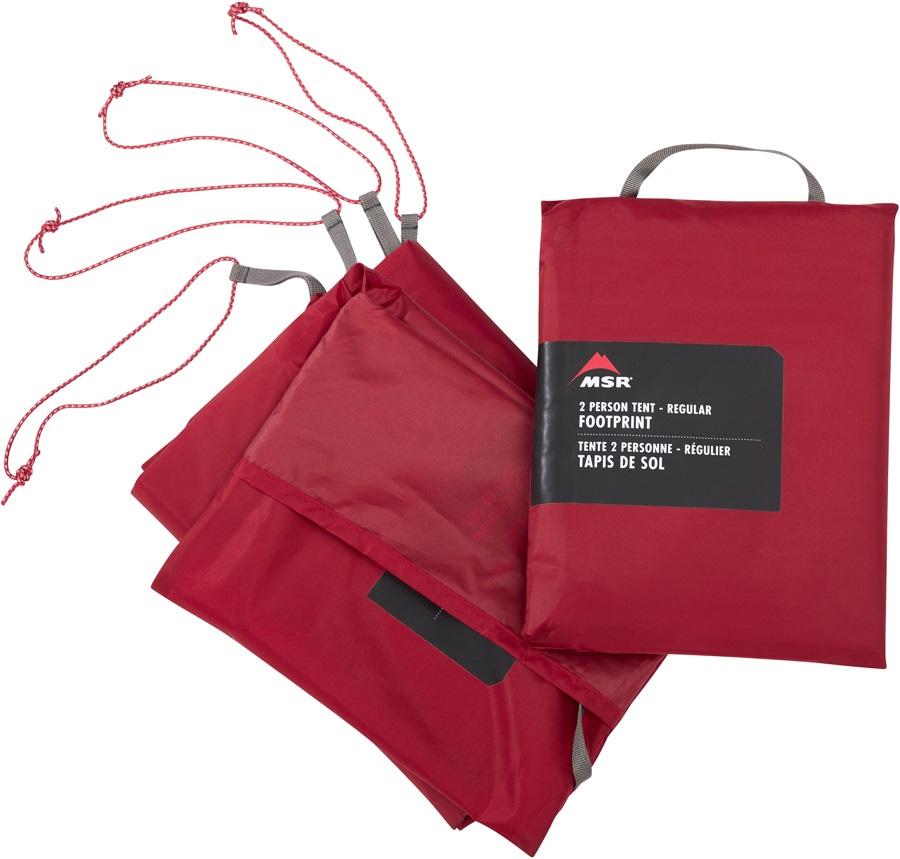 MSR Universal Tent Footprint Waterproof Tent Groundsheet, 3 Man Red