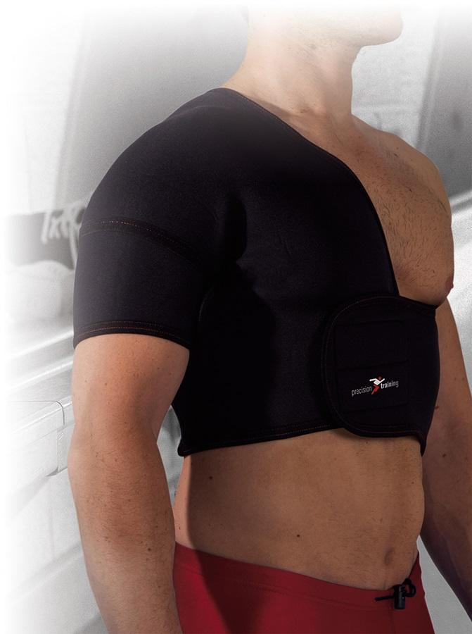 Precision Neoprene Right Shoulder Support S Black