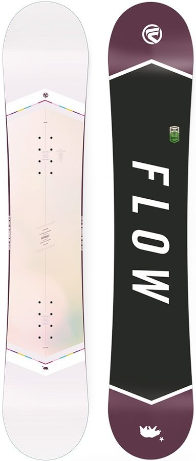 Flow Venus White Women's Hybrid Camber Snowboard, 143cm 2018