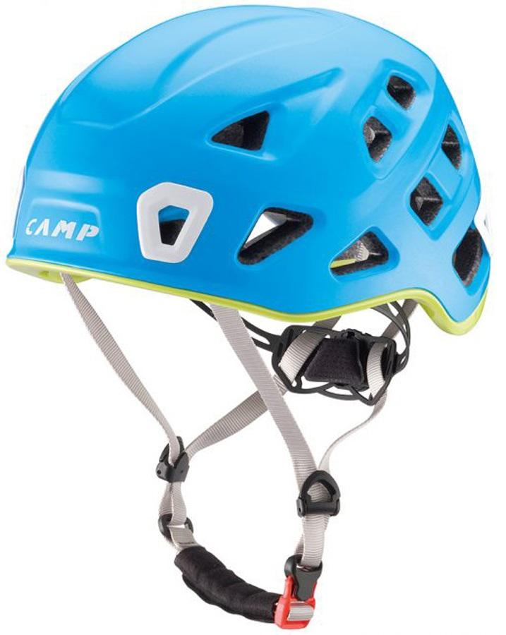 CAMP Storm Rock Climbing Helmet, 48-56cm, Blue/Green