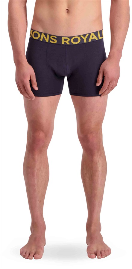Mons Royale Hold'em Shorty Merino Wool Thermal Boxers L 9 Iron