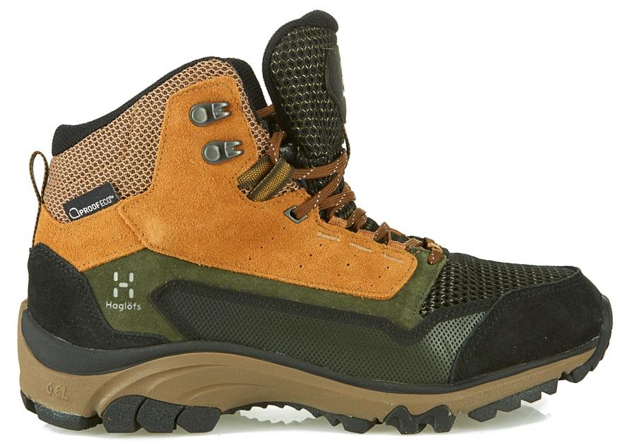 Haglofs Skuta Mid Proof Eco Men's Hiking Boots, UK 10.5 Oak/Deep Woods