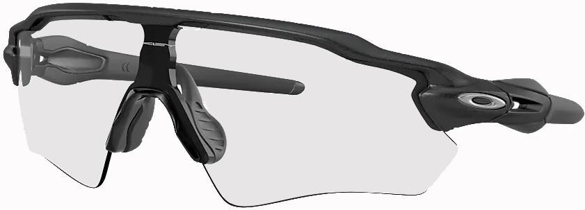Oakley Radar EV Path Clear - Black (Photochromic) Sunglasses, M Steel