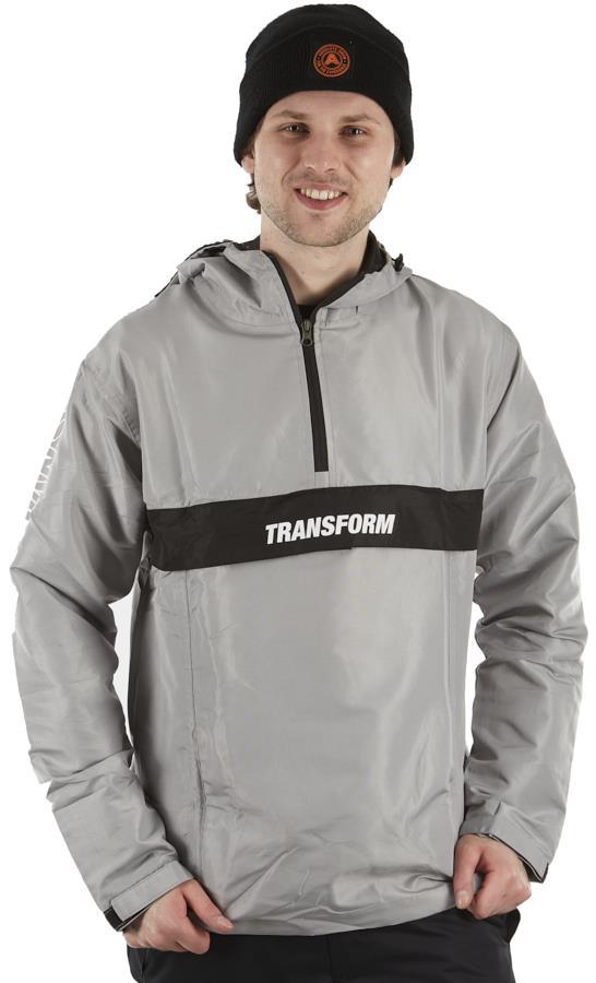 Transform Fast Text Windbreaker Ski/Snowboard Anorak, M Silver