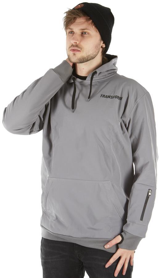 Transform Se12 Softshell Technical Hoodie, L Silver