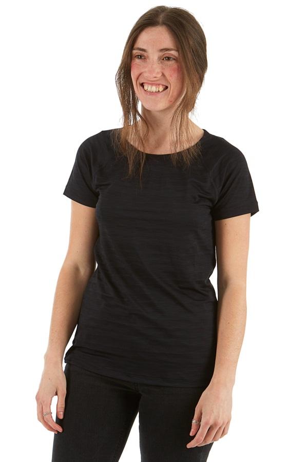 Mountain Hardwear Mighty Stripe Technical T-Shirt, UK 8 Black