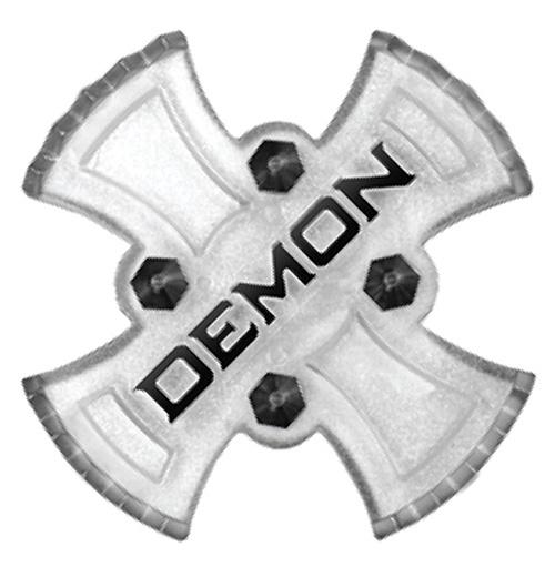 Demon Zeus Adhesive Snowboard Stomp Pad Clear/Black