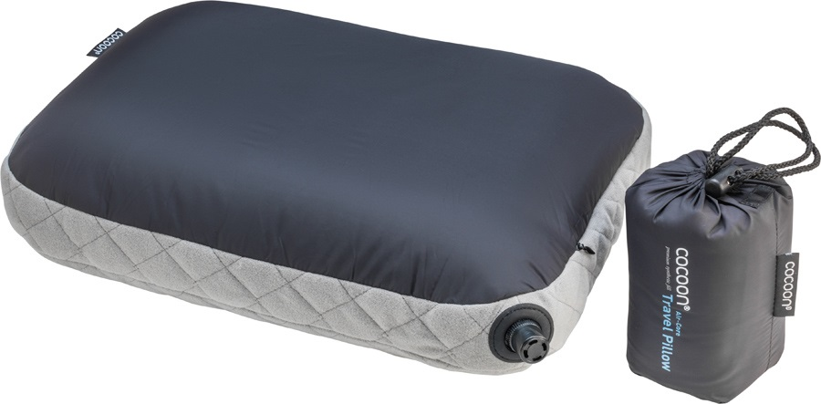 Cocoon Air Core Pillow Inflatable Carry-On Pillow, Smoke/Charcoal