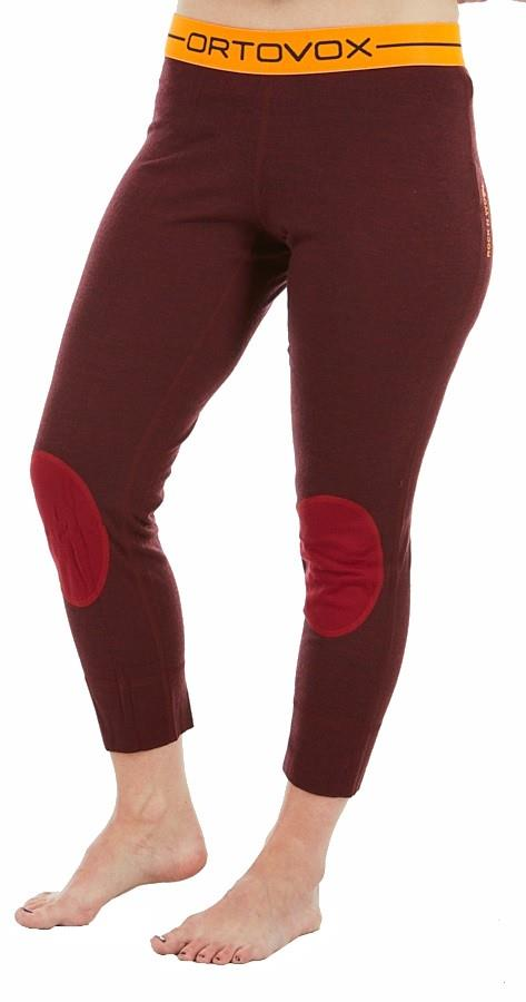 Ortovox Womens Rock'N'Wool Short Women's Thermal Pants, L Dark Blood Blend