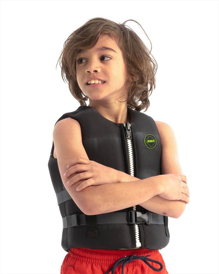 Jobe Neoprene Life Vest Kids Buoyancy Aid, 12 / 152 Black 2021