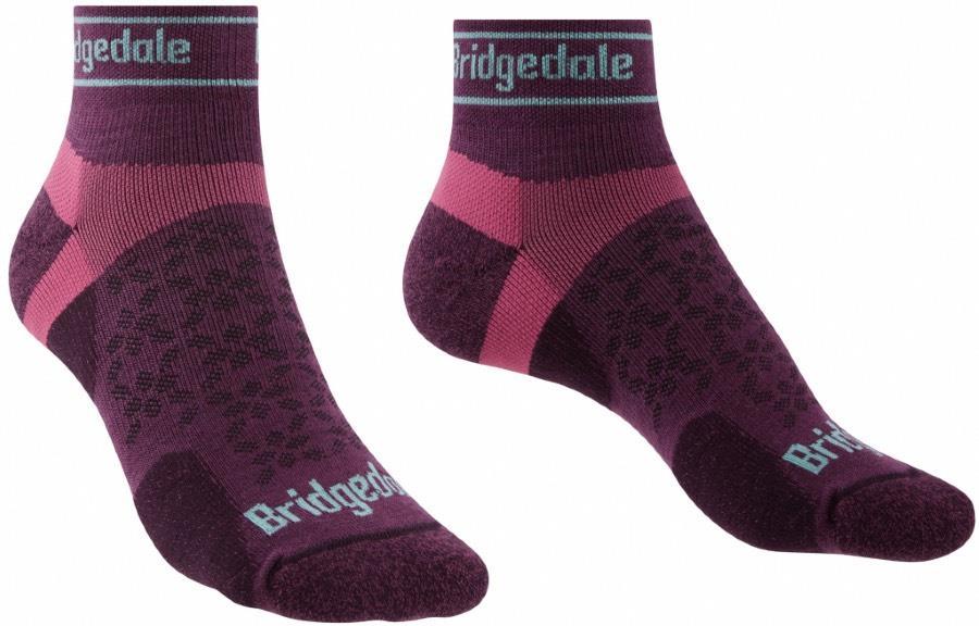 Bridgedale Trail Run Ultralight T2 Women's Merino Low Socks S Damson