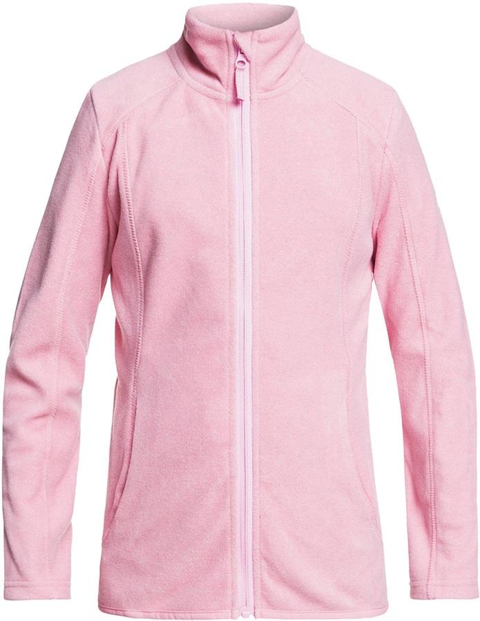 Roxy Girls Harmony Girl's Snowboard/Ski Fleece, Ages 8-10 Prism Pink