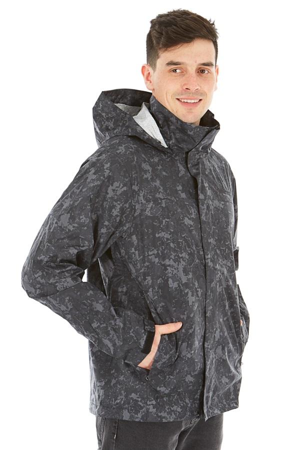 Marmot Precip Eco Print Waterproof Shell Jacket, M Dark Camo