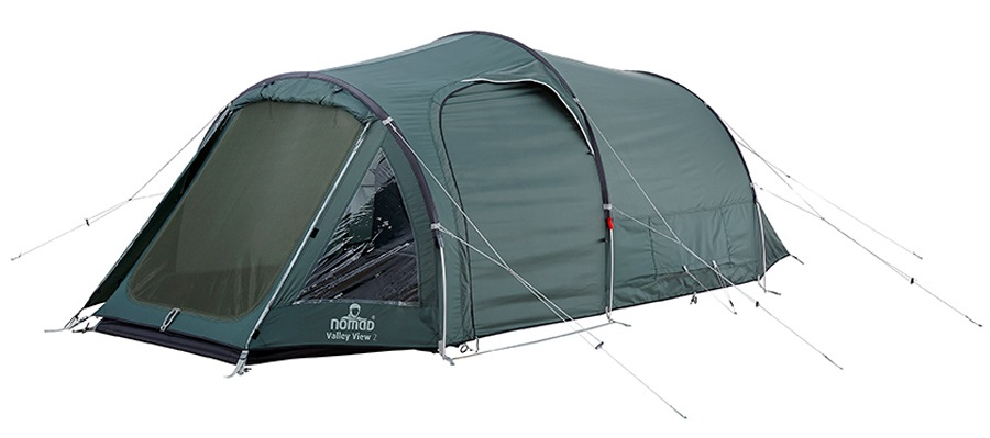 NOMAD® Valley View 2 Camping Tunnel Tent, 2 Man, Moss