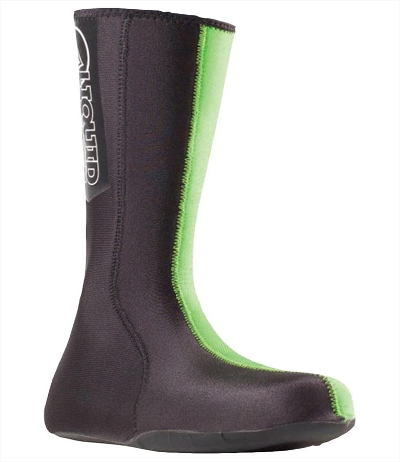 Liquid Force 1.5mm Neoprene Wetsuit Socks W/ Reinforced Sole, S Green