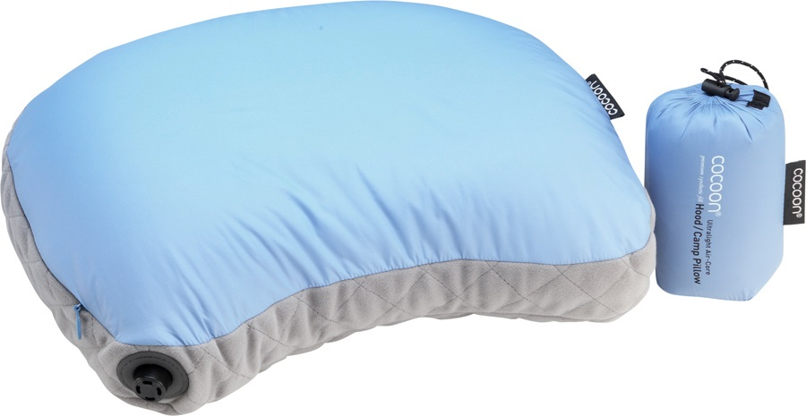 Cocoon Air Core Hood/Camp Pillow UL Inflatable Travel Pillow, Blue