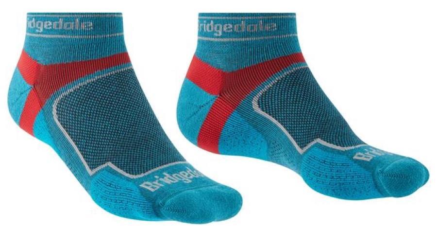 Bridgedale Ultralight T2 Sport Low Coolmax Trail Run Socks M Blue