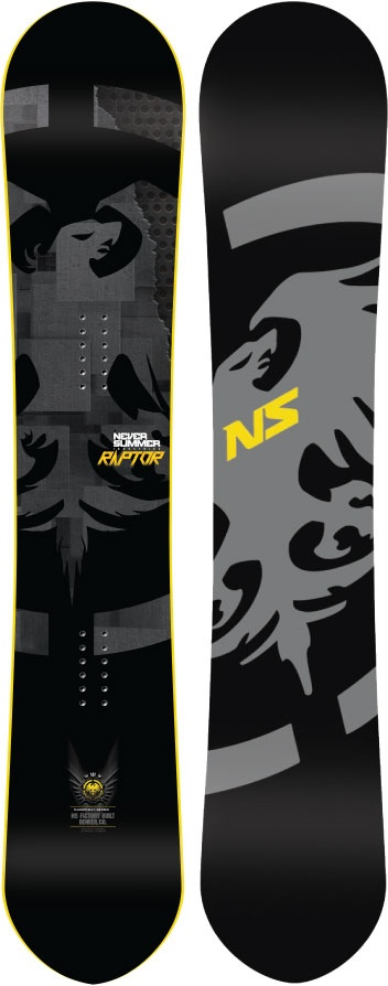 Never Summer Raptor Rocker Camber Snowboard, 169cm, 2014