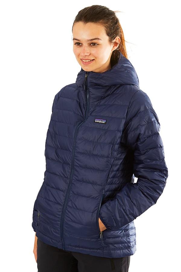 Patagonia Womens Down Sweater Hoody Jacket, UK 14 Navy
