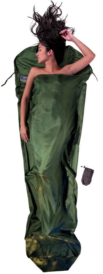 Cocoon MummyLiner Silk Ultralight Sleeping Bag Liner, Olive Green